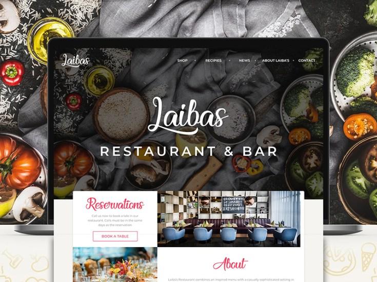 Restaurant & Bar Landing Page Template