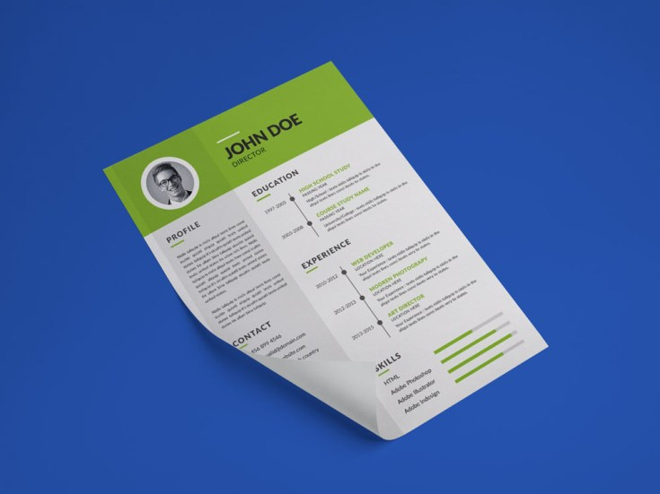 Free Simple Green Resume Template
