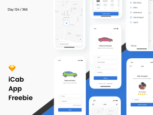 Taxi Booking App UI Template
