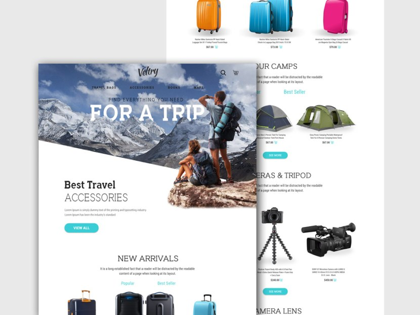 Travel Accessories Website Template