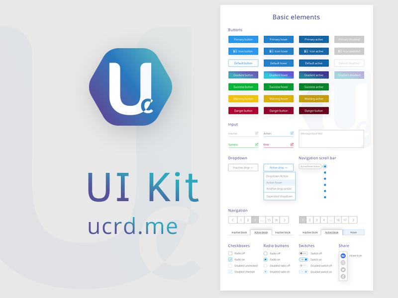 UCRD UI Kit PSD