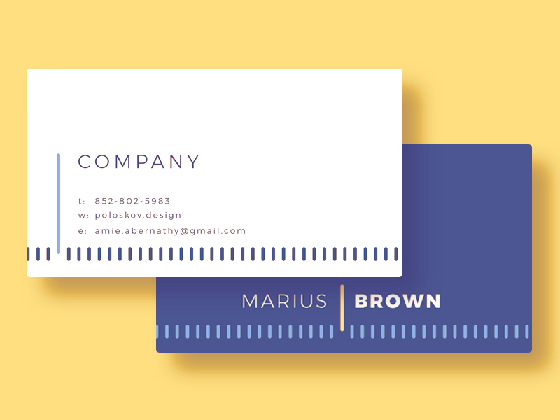 Free Clean Modern Business Card Template