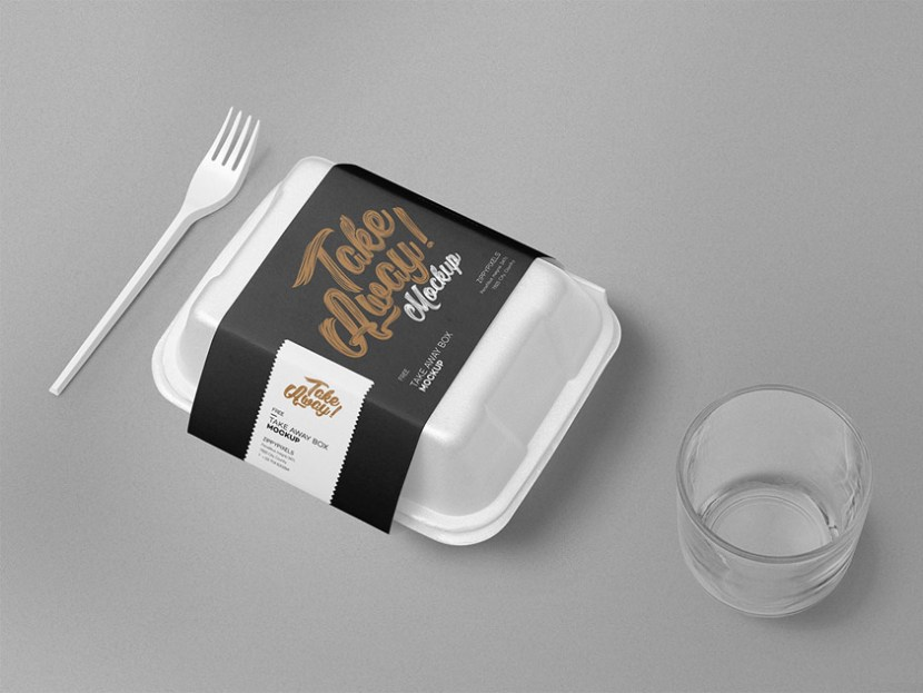 Free Disposable Food Packaging Mockup PSD