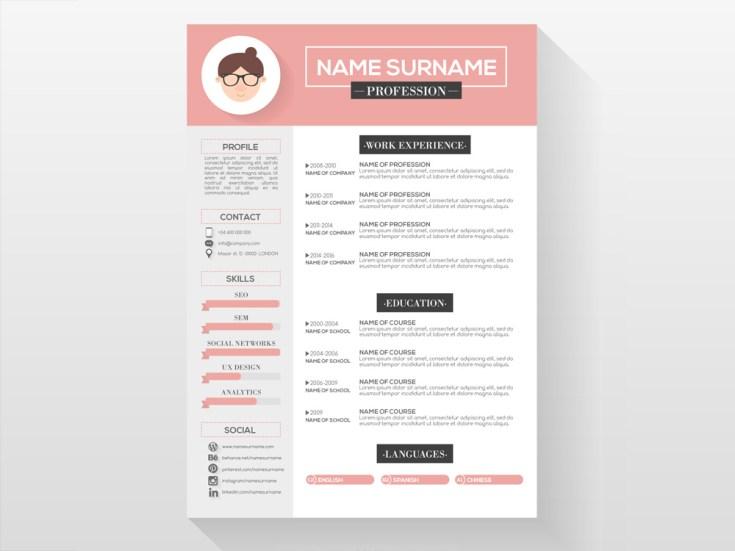 Free Feminine CV Template