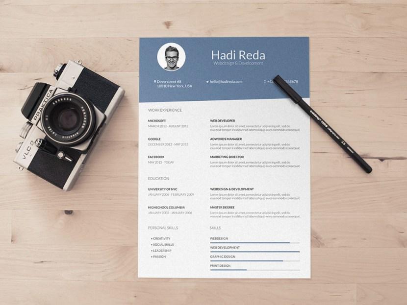 Free Minimalist CV Template for Designer