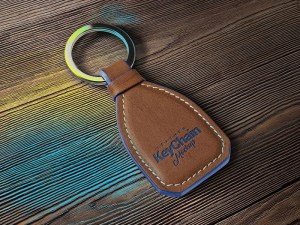 Free Leather Keychain Mockup