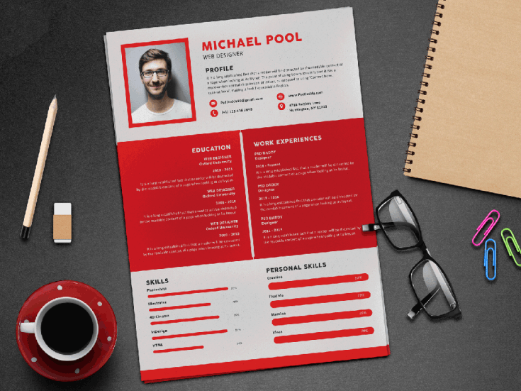 Free Premium Resume Template with Stylish Design