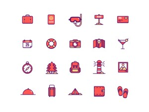 Free Summer Holidays Icon Set