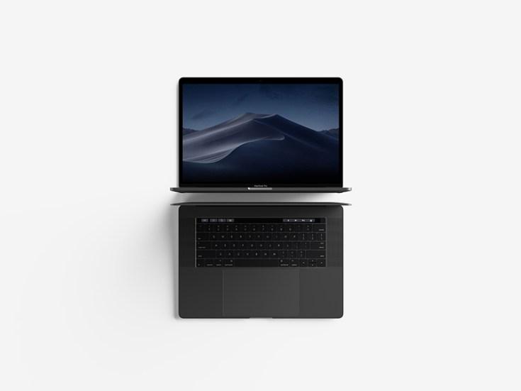 Free Top View Macbook Pro Mockup
