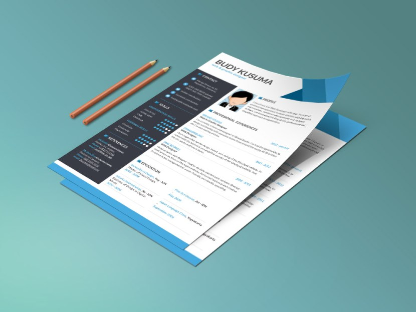 Free clean and modern CV Template