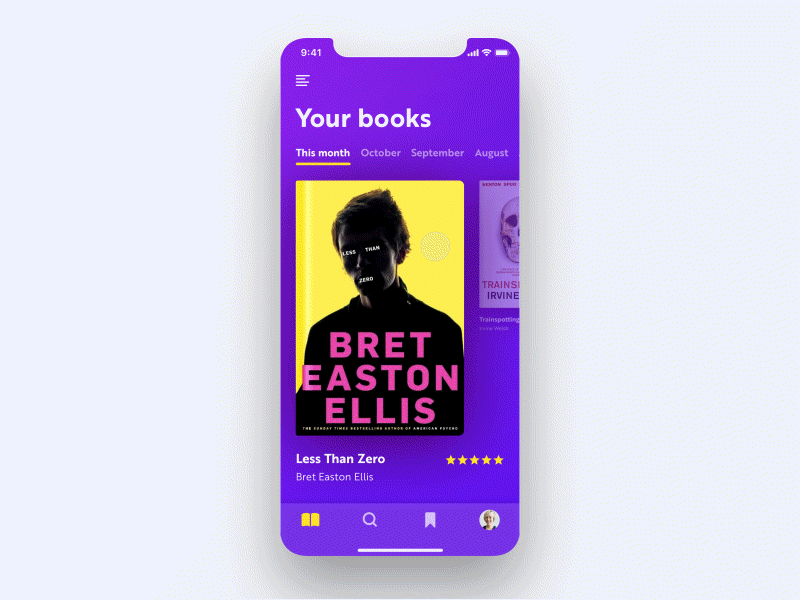 Book App Concept UI Sketch