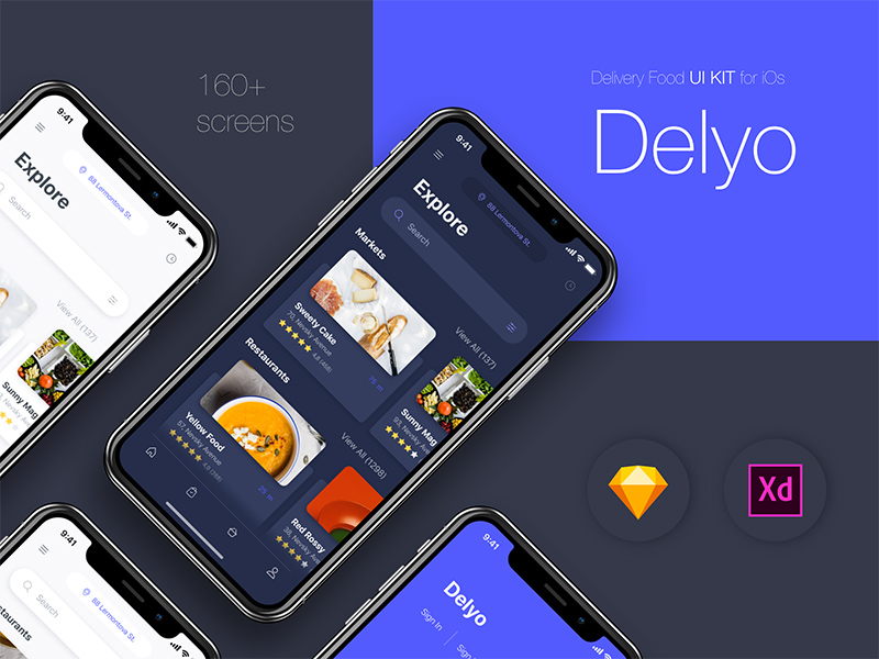 Delyo Food Delivery App UI KIT