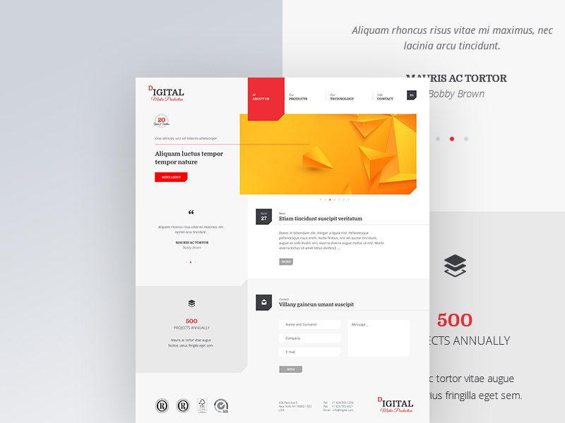 Free Agencies Multipurpose Website Template