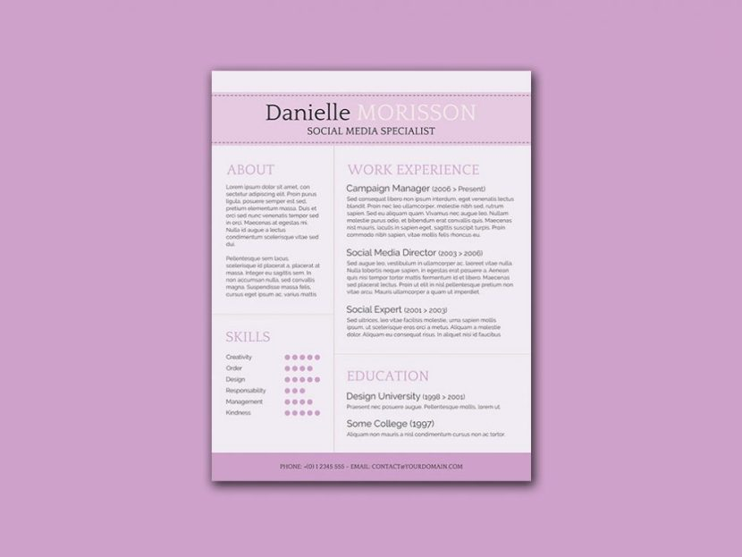 Free Classic Word Resume Template
