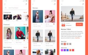 Free E-commerce App Xd UI Kit
