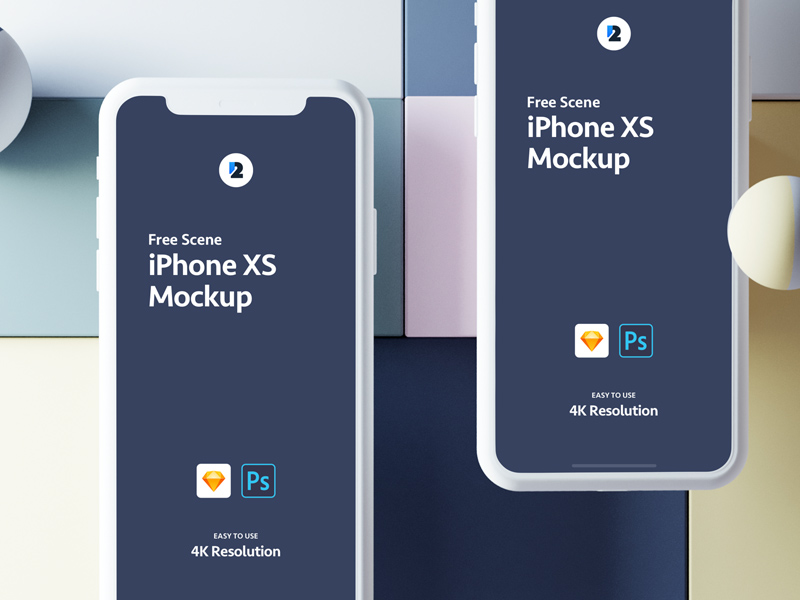iPhone XS Sketch Mockup