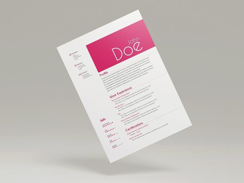 Free Simple Multipage Resume Template