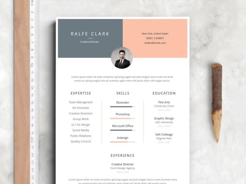 Free Soft Elegant Resume Template