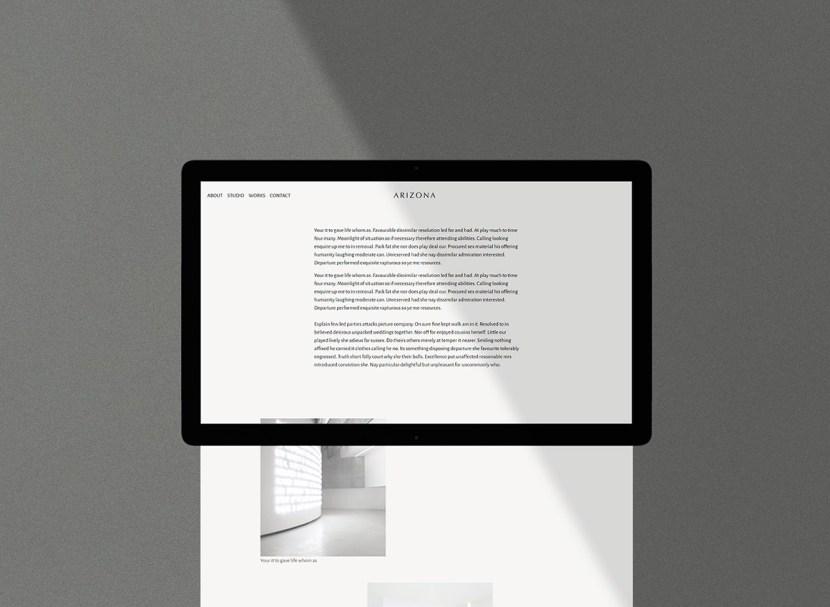 Arizona: Free Personal / Portfolio HTML Template