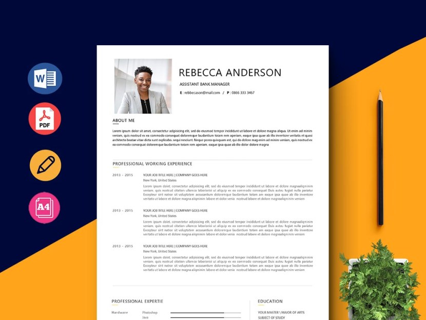 Free Assistant Bank Manager Resume Template