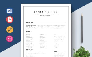 Free Bank Teller Resume Template