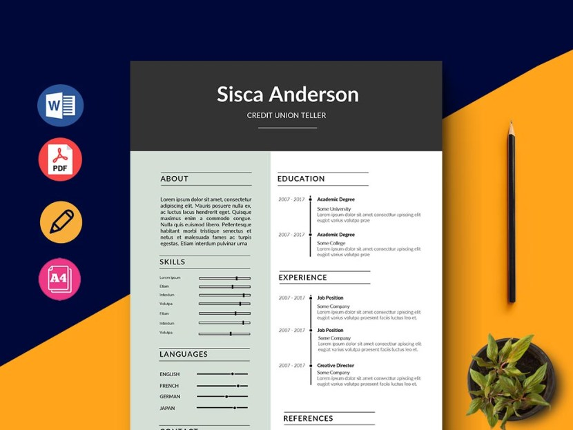 Free Credit Union Teller Resume Template