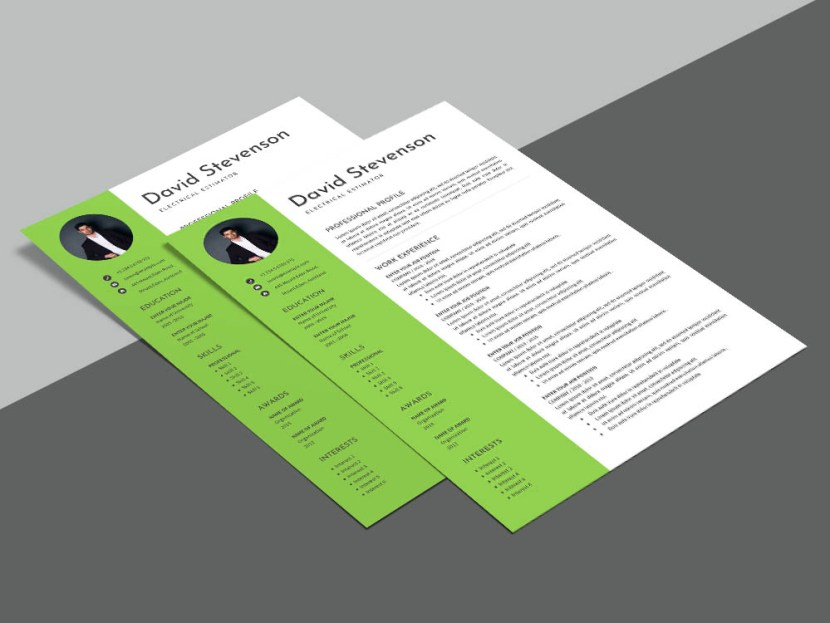 Free Electrical Estimator CV Resume Template