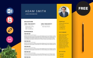 Free Loan Originator CV/Resume Template