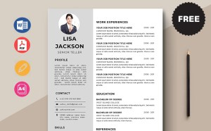 Free Senior Teller Resume Template