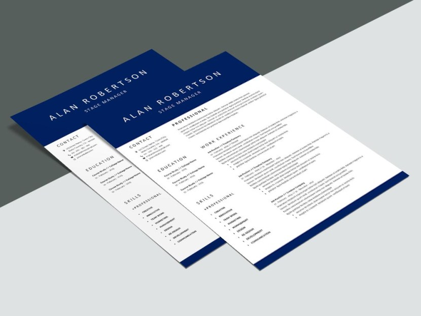 Free Stage Manager CV/Resume Template