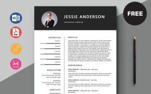 Free Universal Banker Resume Template