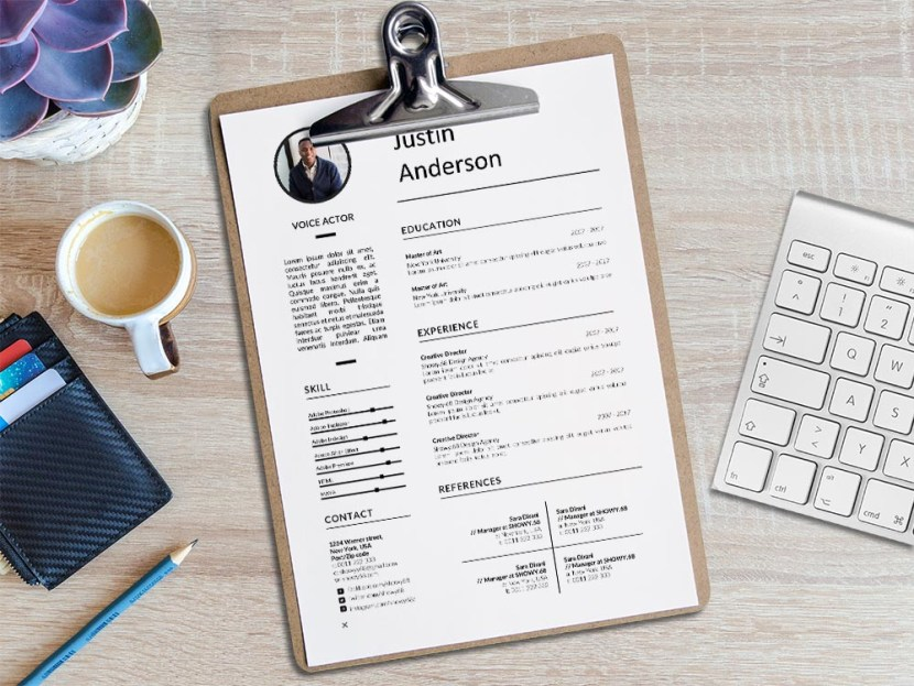 Free Voice Actor Resume Template