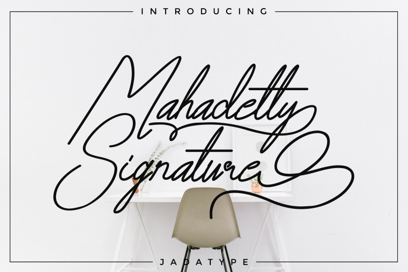 Mahadetty – Free Luxurious Signature Font