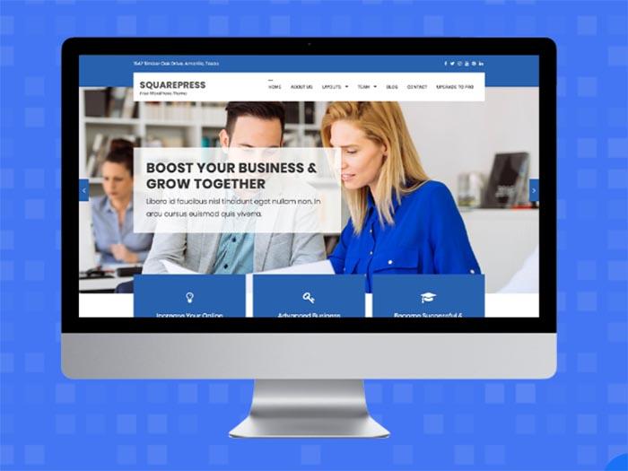 SquarePress – Free Business WordPress Theme