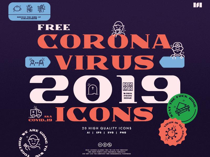 Free Corona Virus (COVID-19) Icons