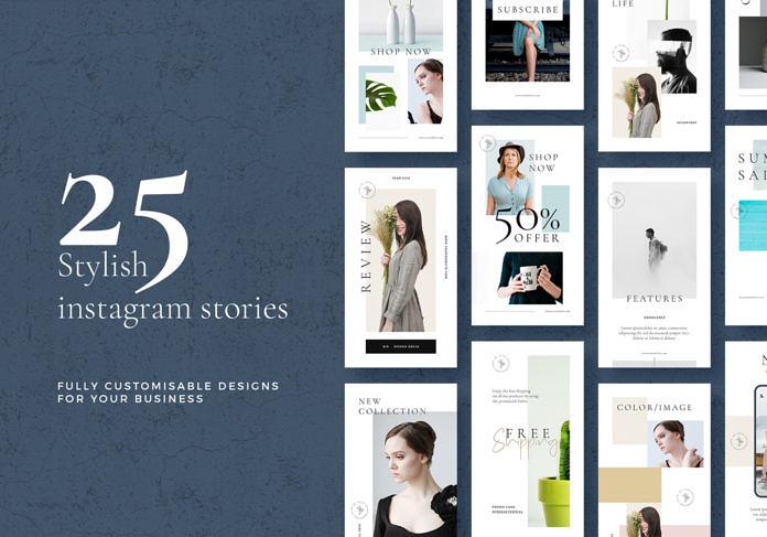 25 Free Stylish Instagram Stories Templates
