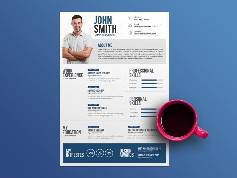 Free Personal Creative Resume Template