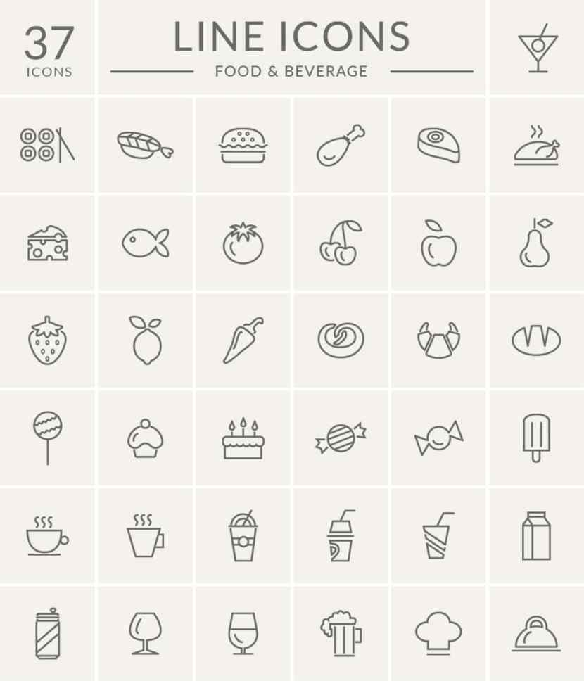 Free Food And Beverage Icon Set