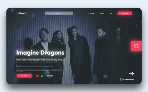 Free Adobe XD Music Website Template