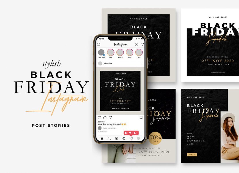 Free Black Friday Instagram Post Template