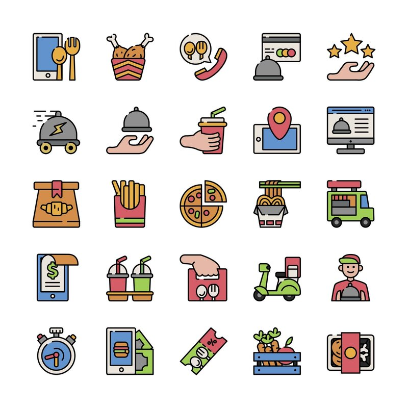 Free Food Delivery Icons