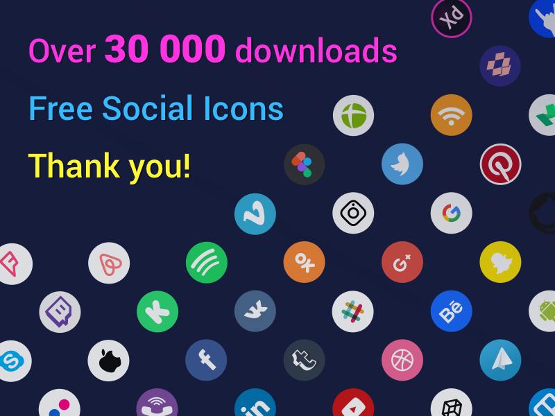 Free Round Social Media Icons