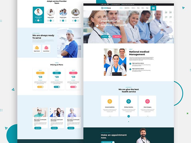 Free Health Care Website Template