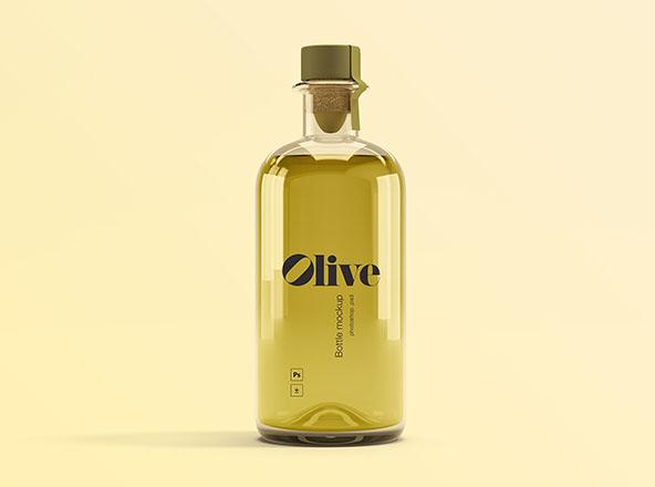 Free Olive Oil Bottle Mockup