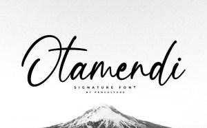 Otamendi – Free Modern Signature Typeface