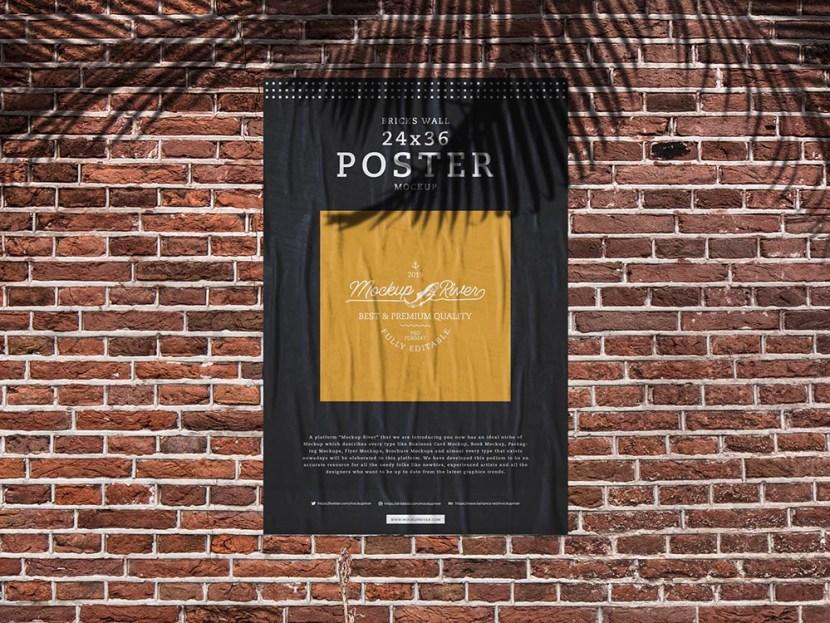 Free 24×36 Poster Mockup