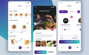 Free Food Delivery App Design in Adobe XD