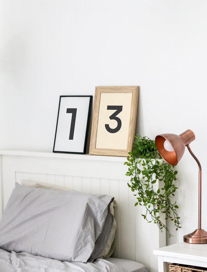 Free Frames Mockup in Bedroom