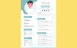 Free Graduate Student CV Resume Template