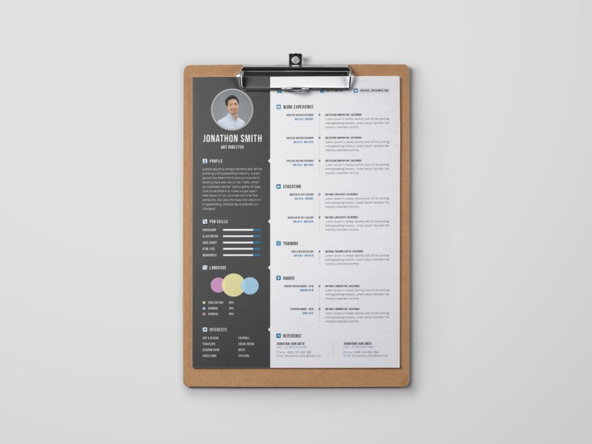 Free Pro Resume Template with Cover Letter
